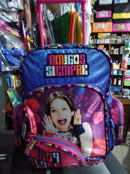 Mochila Con Ruedas Soy Luna Amigos Siempre Disney Wabro Chic
