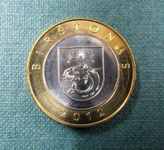 Lituania Moneda Bimetalica 2 Litai 2012 Unc Km#183.1 Birston