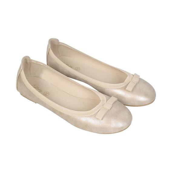 Ballerina Vestir Beige Caña Baja Niña Colloky