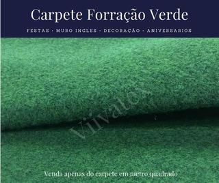 Carpete Forração Verde Grama Muro Inglês 12mts