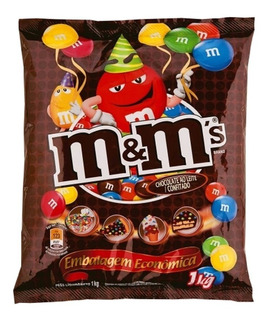 Chocolate M&m Confeitos De Chocolate Ao Leite 1kg - Confete