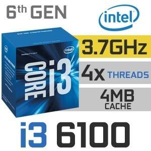 Processador Intel Core I3-6100 Skylake 3.7 Ghz 3mb Lga 1151