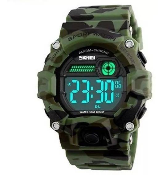 Relógio De Pulso Masculino Original Digital Skmei Army