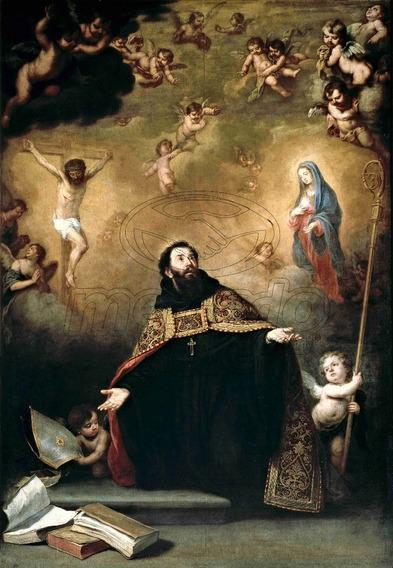Lienzo Tela Canvas Cristo Y San Agustín Esteba Murillo 72x50
