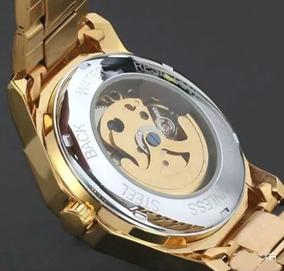 Relógio Masculino Dourado Automático Winner / Novo