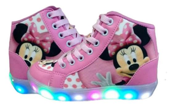 Bota Minnie Mickey Led Feminina Infantil Personagem Promoção