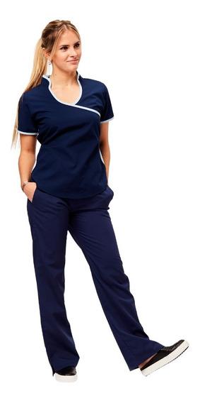 Jazmín Poly Azul Con Celeste - Ambo De Diseño Oh! Wear