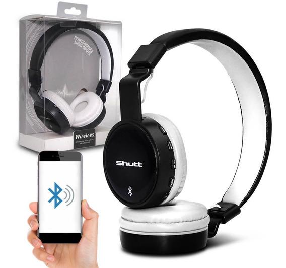 Fone De Ouvido Headphone Basic Wireless Preto Branco Shutt