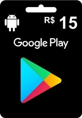 Imagem 1 de 2 de Gift Card Google Play R$15,00
