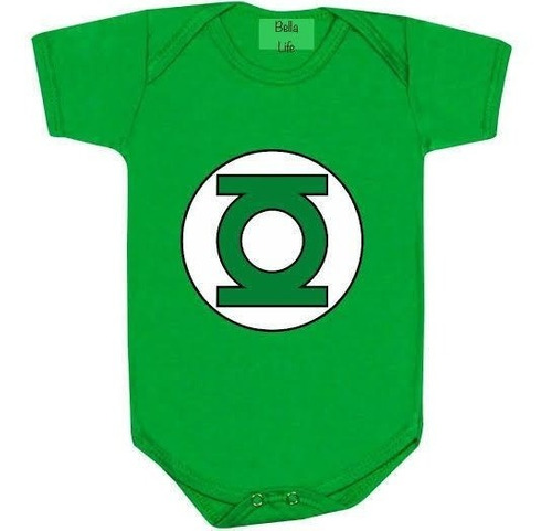 Body Bebê Lanterna Verde - Mesversario E Fantansia