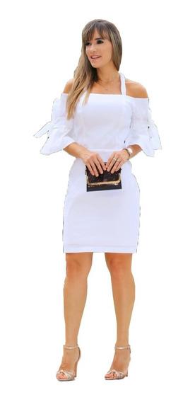 Vestido Em Tafetá Poliamida Lovely