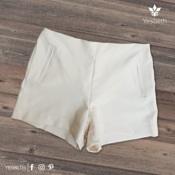 Short Skinny P/ Dama Beige Yesbeth Tiendas Platino