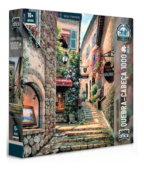 Puzzle Quebra Cabeça 1000 Peças Vielas Francesas Toyster