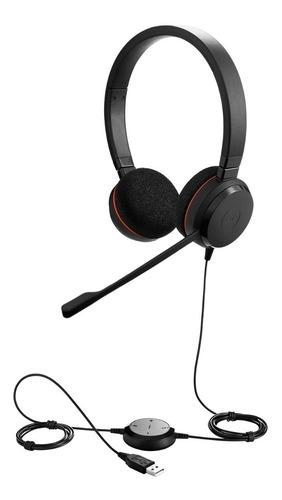 Auricular Headset Jabra Evolve 20 Duo Usb Call Center Jazz