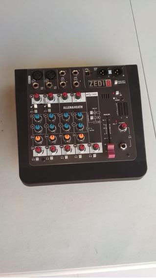 Mixer Interface Usb Mesa De Som Allen Heath Zedi-8