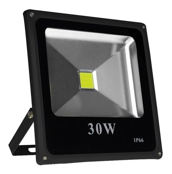 Refletor Holofote Led 30w Slim Branco Frio Bivolt Ip66 Loja