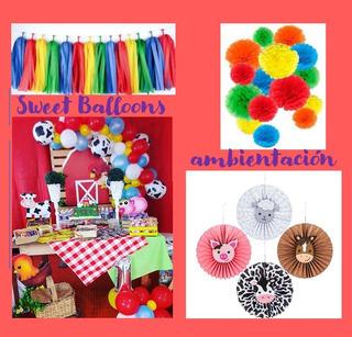 Decoración Candy Bar/mesa Dulce Granja, Animales, Zenón