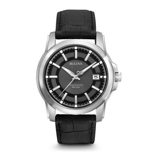 Relógio Bulova 96b158 Precisionist Preto Couro( Importado)
