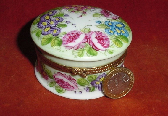 Alhajero Porcelana Limoges France Decorado A Mano Firmado