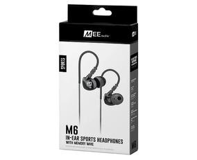 Fone In-ear Mee Audio M6 Sport-fi Preto Resistente A Água