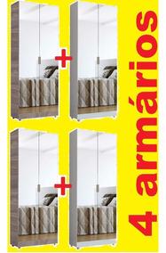 4 Espelho Armário Multiuso Sapateira Banheiro M + F.grát*
