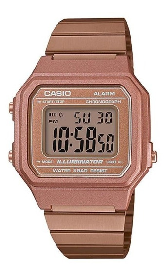 Relógio Casio Vintage Feminino B650wc-5adf Rosê B-650 B650wc