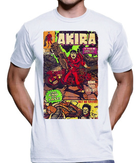 Camiseta Akira Tetsu Kaneda Cyberpunk Anos 80 Anime 2039