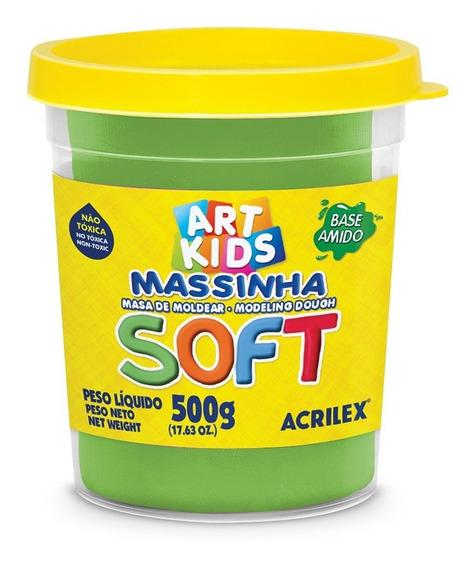 Massa P/modelar 500g Soft Verde 101 Acrilex Po 1 Un
