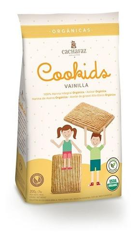 Imagen 1 de 5 de Cachafaz - Galletas Cookids Orgánicas Vainilla X 200g