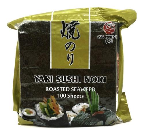 5 Paquetes De Alga Nori Para Sushi X 100 Hojas