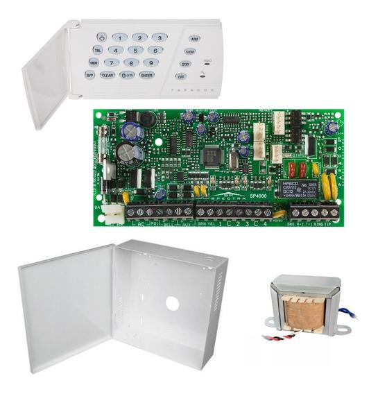 Alarme Residencial Monitorado Paradox Sp4000 Com 9 Setores