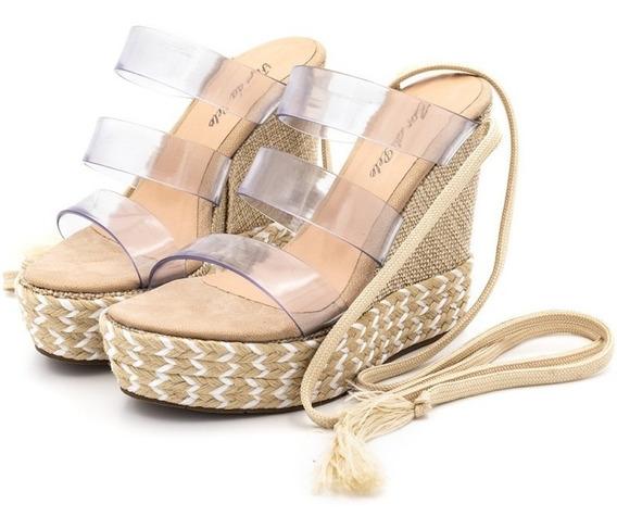 Sandalia Salto Alto Tiras Transparencia Mais Barato