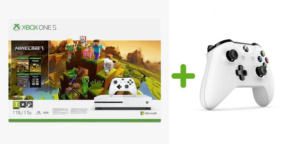 Console Xbox One S 1 Tera Microsoft + Minecraft + 1 Controle