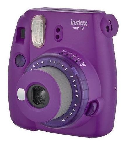 Câmera Instantânea Fuji Instax Mini 9 Roxa + 01 Filme De 20