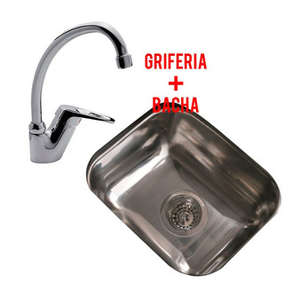 Combo Pileta Cocina Simple Johnson E37 + Grifería Fv Arizona