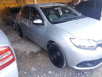 Renault Logan 1.6 Expression 2017 Prata Flex