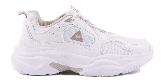 Lecoq Sportif - Zapatillas Mujer Plataforma - Bayona White