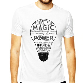 Camiseta Harry Potter Masculina Magic Draco Malfoy Dobby