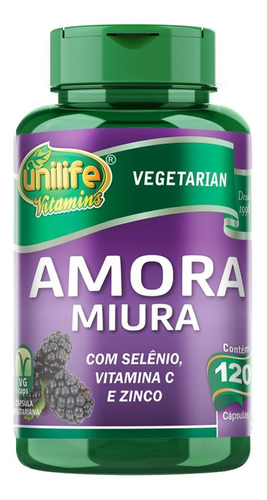 Amora Miura 120 Cápsulas 500mg Unilife Extrato Seco