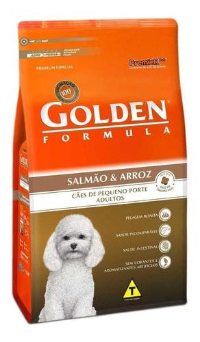 Ração Golden Premium Especial Formula para cachorro adulto da raça pequena sabor salmão/arroz em saco de 10.1kg
