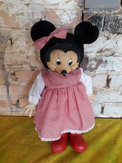 Boneco Minnie Mouse Antigo Estrela 41cm Da Disney