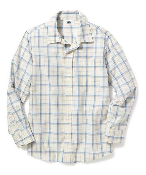 Camisa Old Navy Niño Beige Cuadrada 206863-07-1 Manga Larga