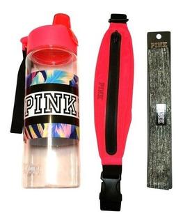 Victorias Secret Botella Pink 946ml + Vincha + Riñonera