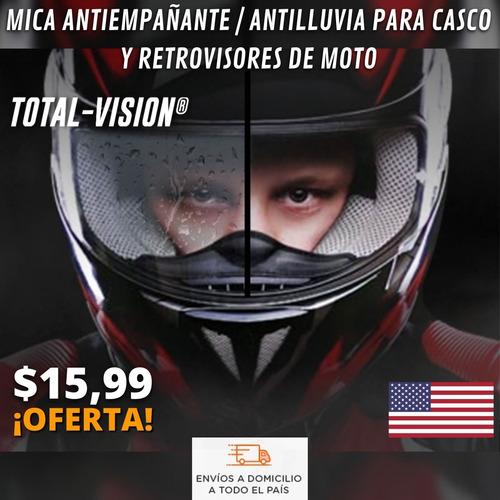 Mica Antiempañante/antilluvia Casco Y Retrovisores De Moto