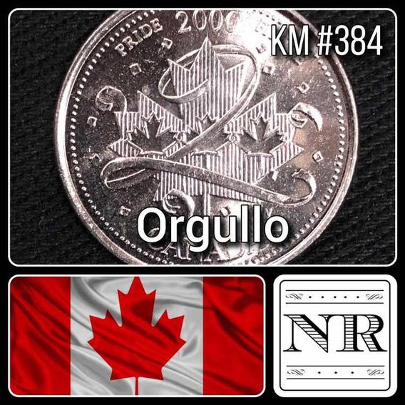 Canada - 25 Cents - Año 2000 - Km #384 - Orgullo