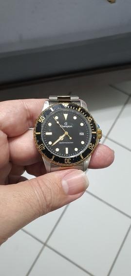 Relógio Champion Masculino Quartz Fundo Preto