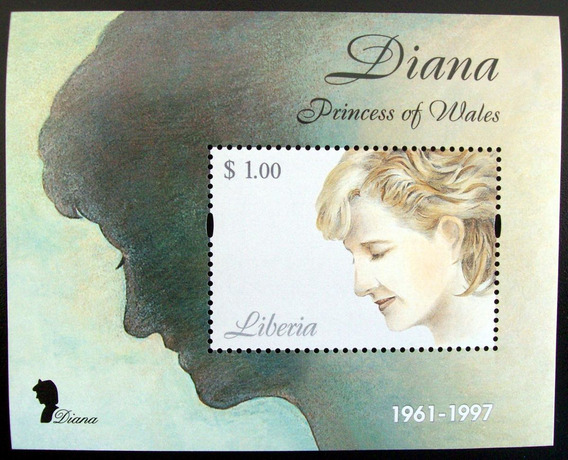 Liberia, Princesa Diana Bloque 1 Sello 2007 Mint L5639