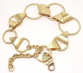 Bracelete Pulseira Feminina Folheada A Ouro 18k