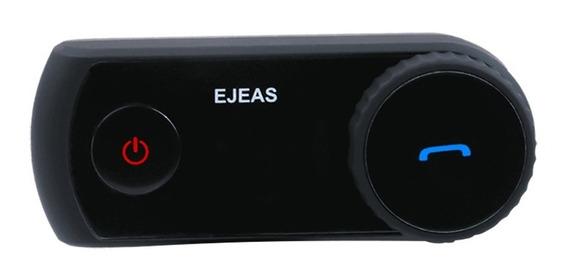 Intercomunicador Bluetooth Casco Moto Alcance 1200m E2 Ejeas