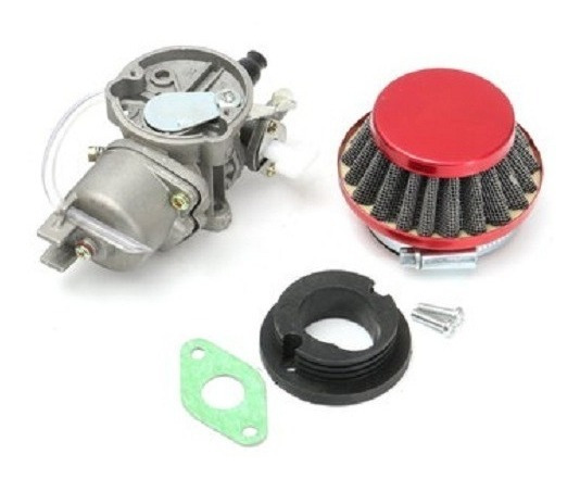 Carburado Filtro De Ar Motores 49cc Mini Moto/ Quadriciclo